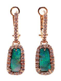 Kimberly Mcdonald Boulder Opal And Diamond Earrings - Browns - Farfetch.com