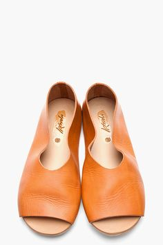 MARSELL Tan Leather Strambo Sfoder Slip Ons
