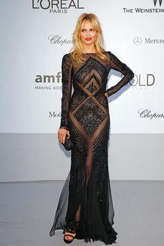 Natasha Poly in Emilio Pucci at the amfAR Cinema Against AIDS gala - I'd be so scared to wear that dress :)