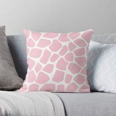 Pink Throw Pillows, Designer Throw Pillows, Salmon Pink Color, Golden Bow, Pink Giraffe, Black Interior Design, Cerise Pink, Moroccan Pattern, Tile Patterns