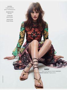 Catherine McNeil by Jean-Baptiste Mondino for Elle France March 2015