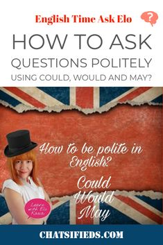 How to ask questions politely using could, would and may? Learn how to to ask English questions politely using could, would and may, English Time, English Study, Learn English, Easy English Grammar, English Speaking Skills, Questions To Ask, This Or That Questions, Test Test, Improve Your English