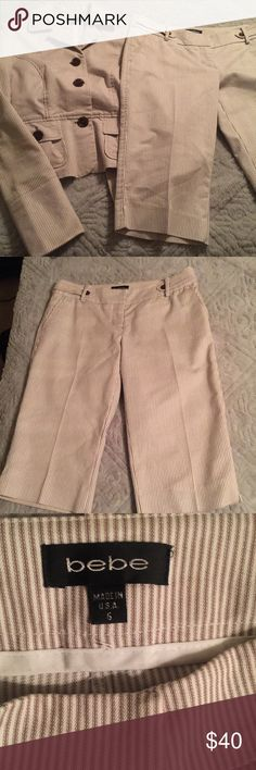 Bebe career suit Pin stripes suit excellent condition. Sz 6 bebe Jackets & Coats Blazers