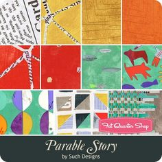 Parable Story Fat Quarter Bundle Carrie Bloomston for Windham Fabrics   Fat Quarter Shop