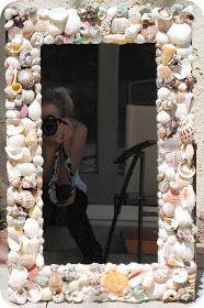 lee la la: Pottery Barn Inspired Sea Shell Mirror Tutorial