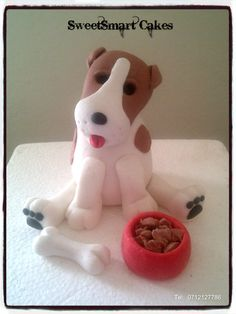 Fondant Jack Russel puppy For more information & orders, email sweetartbfn@gmail.com or call 0712127786.