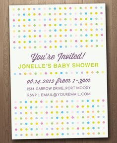Neutral Rainbow Personalized Baby Shower Invitation (Downloadable, Printable and Emailable)