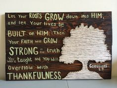 Bible verse and string art