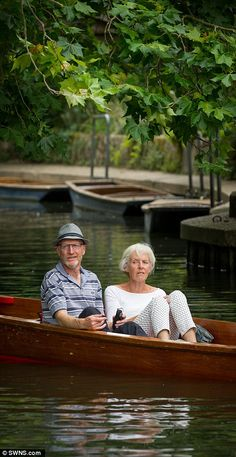 Relaxing: Couples were seen kicking back and enjoying the sun while floating down the rive...
