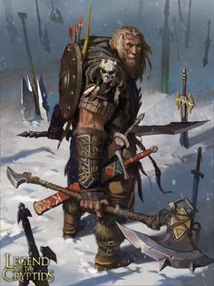 m Barbarian med armor shield battle axe swords bow snow ArtStation - Weapon Master Belk (Normal), Jason Kang Fantasy Artwork, Fantasy Concept Art, Fantasy Character Design, Character Concept, Character Inspiration, Character Art, Fantasy Warrior, Fantasy Rpg, Medieval Fantasy