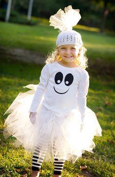 Ghost Tutu Costume (hat, shirt, tutu and leg warmers)...L'il Boo