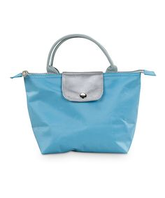 a0417e764945c3 Take a look at this Teal Monogram Lunch Purse on zulily today! Lunch Tote