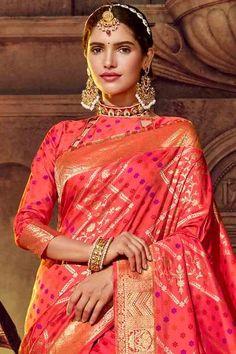 Silk Sarees With Price, Ethnic Looks, Wedding Sarees, Indian Heritage, Saree Look, Wedding Sutra, Traditional Sarees, Banarasi Sarees, Designer Sarees