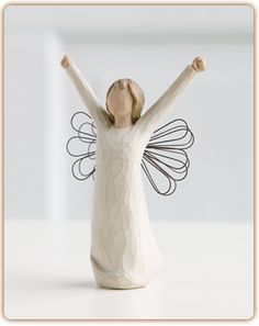 """""""Courage"""" Willow Tree angel figurine available at Ear Abstracts Boutique 714.996.3505 *We ship!*"""