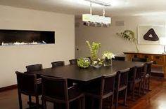dark timber floor contemporary furniture - Google Search