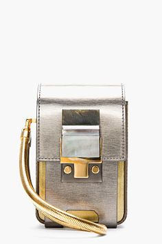 Silver coated calfskin Partition Camera Bag. Lanvin handbags, find them on eBay, brought together for you in one convenient site! Time and money savings! www.womensdesignerhandbag.com