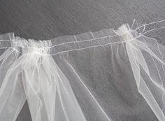 This tutorial walks you through the steps to make a simple, raw-edge bridal veil…