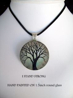 available in my facebook  shop  I STAND STRONG SERIES>  1.5inch round hand painted. Washer Necklace, Pendant Necklace, Stand Strong, Stand By Me, Shop My, Hand Painted, Inspire, Artists, Facebook