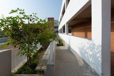 An Institute Design Embarking In A Naturally Lit And Ventilated Building Envelop | KSM Architecture - The Architects Diary Learning Spaces, Apartment Design, Architects, Envelope, Sidewalk, Stairs, Building, Nature, Home Decor