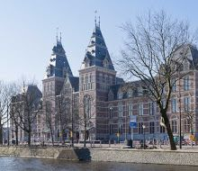 Rijksmuseum, Amsterdam ~ The museum has a total collection of one million objects from the years 1200-2000, and includes masterpieces from Rembrandt, Frans Hals and Johannes Vermeer.