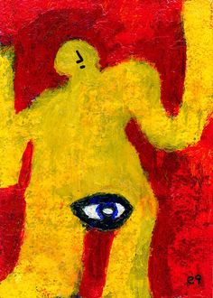 narrow focus e9Art ACEO Outsider Art Brut Expressionism Raw Intuitive LowBrow #OutsiderArt