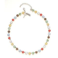 """Rhinestone Choker-Blessed-17"""" w/2"""" Extender (Multi Collection)"""