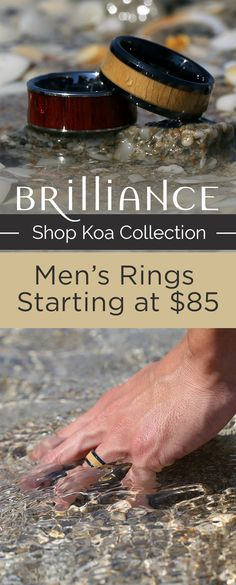 Our new Koa Collection features rings with an inlay of reused & reclaimed wood!