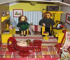 Amelia and Jim in bedroom Dollhouse Dolls, Amelia, Two By Two, Bedroom, Room, Bed Room, Bedrooms, Dorm