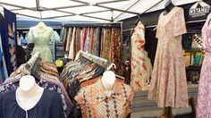 Good morning #Melbourne! We are all set and ready to go on this beautiful  Saturday!  Final day at the #rosestmarket! For now...        #koenjivintage #vintage #sustainablefashion #madeinjapan #fitzroy #melbournetodo shopping #market #frocks