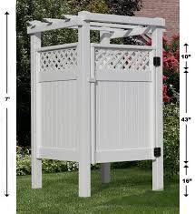 Vinyl Outdoor Shower Enclosure Kits Shower Enclosures 68