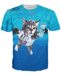 Cat Cobain T-Shirt - RageOn
