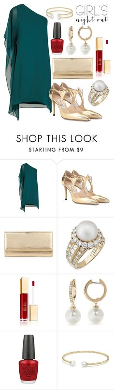 """GNO"" by ghostgypsy ❤ liked on Polyvore featuring BCBGMAXAZRIA, Jimmy Choo, Van Cleef & Arpels, Kate Spade, OPI and David Yurman"