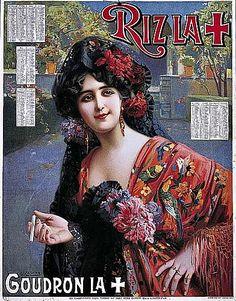 "Gaspar Camps ""i"" Junyent Biography, Works of Art, Auction Results . Art Nouveau, Art Deco, Vintage Advertisements, Vintage Ads, Vintage Posters, Spanish Hairstyles, Spanish Woman, Ad Art, Paris"