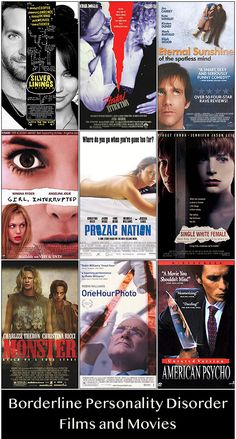 9 Movies About Borderline Personality Disorder - Inspire Malibu Borderline Personality Disorder Treatment, Boarderline Personality Disorder, Personality Quotes, Stress Disorders, Mental Disorders, Bipolar Disorder, 9 Film, Bpd Diagnosis, Mental Health