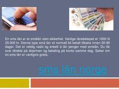 Snabblån sms lån 18 ar norge har rätt