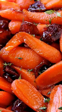 Perfect Glazed Carrots with Dried Cranberries