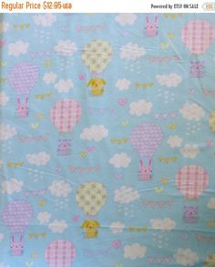 Anniversary Sale Flannel, Cotton Fabric, Quilt, Baby,Welcome Baby by Whistler Studios for Windham Fabrics, Fast Shipping