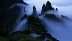 Mount Sanqingshan National Park in ChinaShrouded in mist for 200 days of the year, Sanqingshan National Park, which is considered a sacred place, is used by many for meditation and is believed to grant immortality