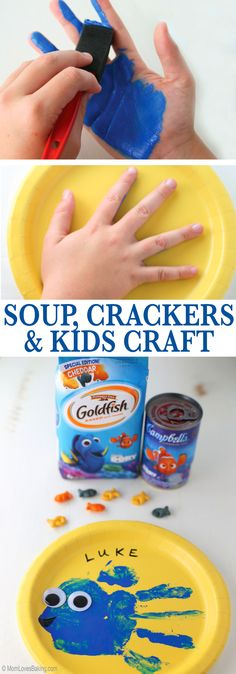 An easy lunch and fun craft with a Disney Pixar's Finding Dory theme. Read more & get tutorial on http://MomLovesBaking.com /search/?q=%23FindingDelicious&rs=hashtag /search/?q=%23ad&rs=hashtag