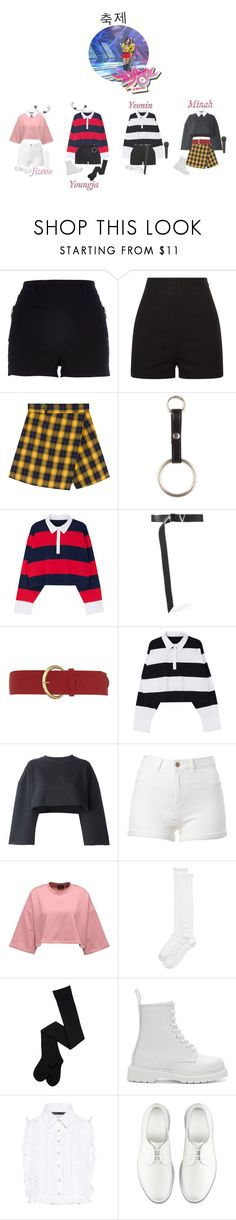 """""""《Goodbye Stage》4U - 축제 ON MUSIC BANK"""" by official4u ❤ liked on Polyvore featuring River Island, Versace, Dorothy Perkins, adidas Originals, Kate Spade, Dr. Martens and Marissa Webb"""