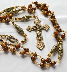 Unbreakable Heirloom Antique Inspired Amber by MajesticRosaries, $139.95