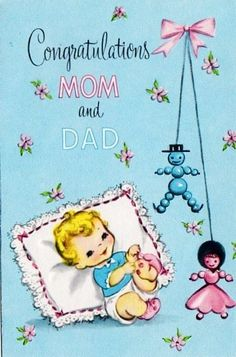 New Baby Greeting Card (6T)
