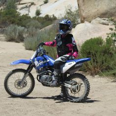 Learn to ride a dirt bike proficiently