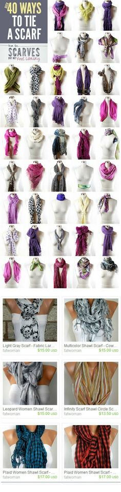 40 ways to tie a scarf! #fall