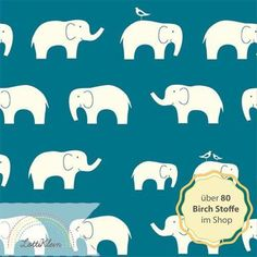 Birch Fabrics Stoff Elefant Mod Basics Ellie Fam von LottiKlein auf DaWanda.com