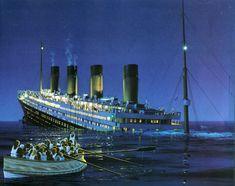 Titanic beginning to go under by Ken Marschall. © Ken Marschall