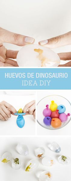 DIY Instruction: making dino eggs out of ice yourself special ice cubes for the kid's birthday / DIY tutorial: making dinosaur eggs made of ice speci Dinosaur Birthday Party, 4th Birthday Parties, Birthday Diy, Frozen Birthday Party, Birthday Ideas, Children Birthday Party Ideas, Dinasour Birthday, Elmo Party, Mickey Party