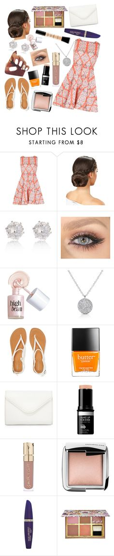 """Bright and Beautiful"" by carolynevers ❤ liked on Polyvore featuring Izabel London, River Island, Benefit, Anne Sisteron, Aéropostale, Butter London, Neiman Marcus, Smith & Cult, Hourglass Cosmetics and Max Factor"
