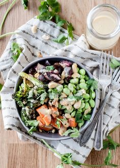 Winter Nourish Bowls with Orange-Ginger Miso Sauce
