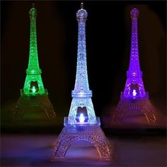 Celebrate your special day with efavormart's Quixotic Light Changing Acrylic Eiffle Towers. Find the top quality wedding LEDs and submersible lights at wholesale rates right here! Eiffel Tower Lights, Paris Eiffel Tower, Eiffel Towers, Led Centerpieces, Paris Theme Centerpieces, Eiffel Tower Centerpiece, Bedroom Night Light, Vase With Lights, Wedding Vases